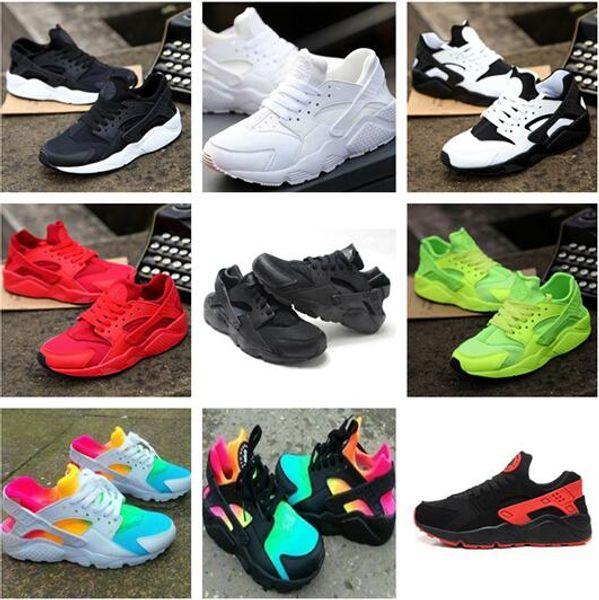 top popular 2018 Fashion Air Huarache Ultra Running Shoes Huaraches Rainbow Ultra Breathe Shoes Big kids Men & Women Huraches Multicolor Sneakers Shoes 2019