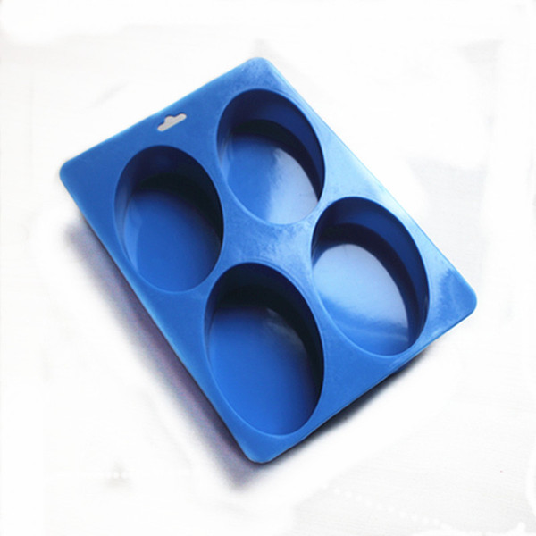 4-hole oval Silicone Cake Chocolate Soap Pudding Jelly Candy Cookie ice Biscuit Mold Mould Pan Bakeware Wholesales