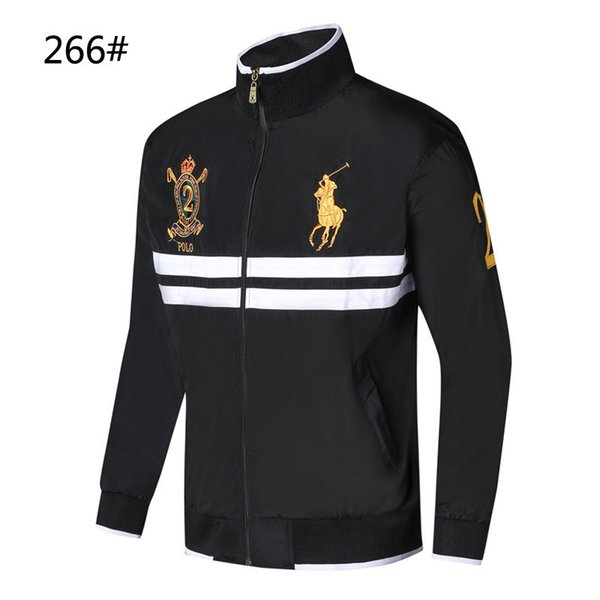 Exclusive first 2018 new designer high-end jacket men's jacket fashion explosion models men's stand collar cotton comfort