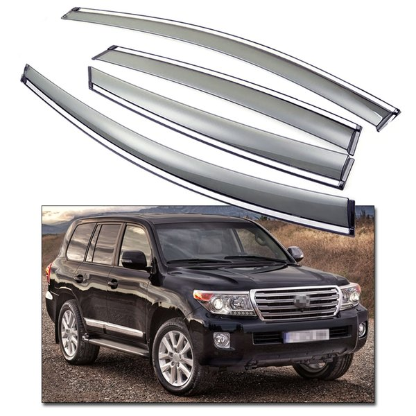 New Front & Rear Car Window Visor Vent Shade fit for Toyota Land Cruiser 200 2008-2016 09 10 11 12 13 14 15