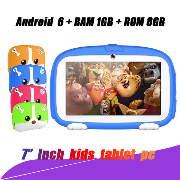 """Hop sell Kids Brand Tablet PC 7"""" 7 inch Quad Core children tablet Android 4.4 Allwinner A33 google player 512MB RAM 8GB ROM with package"""