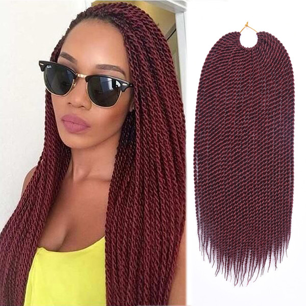 "TOMO Hair 30Roots 14"" 16"" 18"" 20"" 22"" Senegalese Twist Crochet Braids hair Ombre Synthetic Crochet Braiding Hair Extensions"