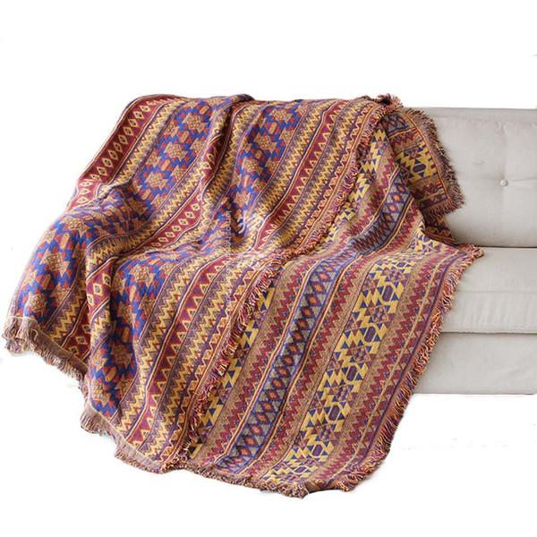 Banc tricotée Canapé Blanket Home Decor Chaise Couch Couverture Cobertor Salon Tapis Bohême Bedspread Voyage plaids Tablecloth