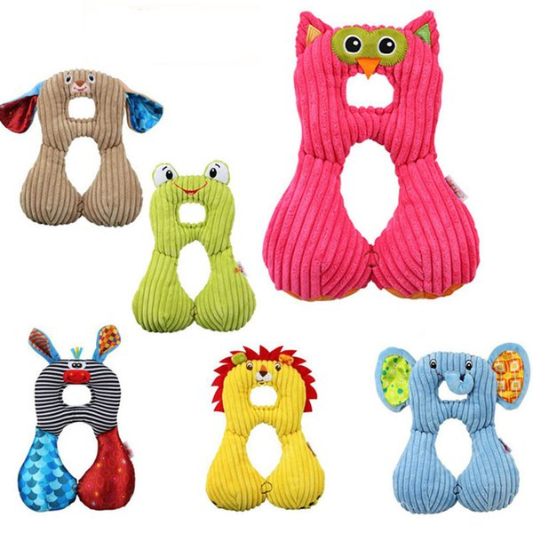 Cute Animal U-Shape Baby Pillow Neck Protection Pillow For Kids Infant Toddler Safety Seat Pillows cartoon Travel Accessories C5212