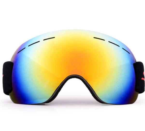 ROBESBON PC Single lens ski goggles lens anti-fog professional Blue/Green/Silver/Black skiing sunglasses multicolor Eyewear