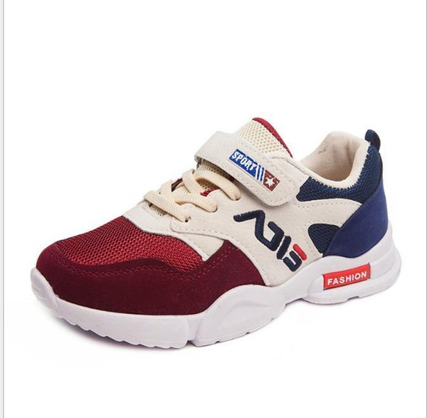 Baby sells best new style autumn boys girls student shoes breathable lightweight super cool tennis shoes 8801-1