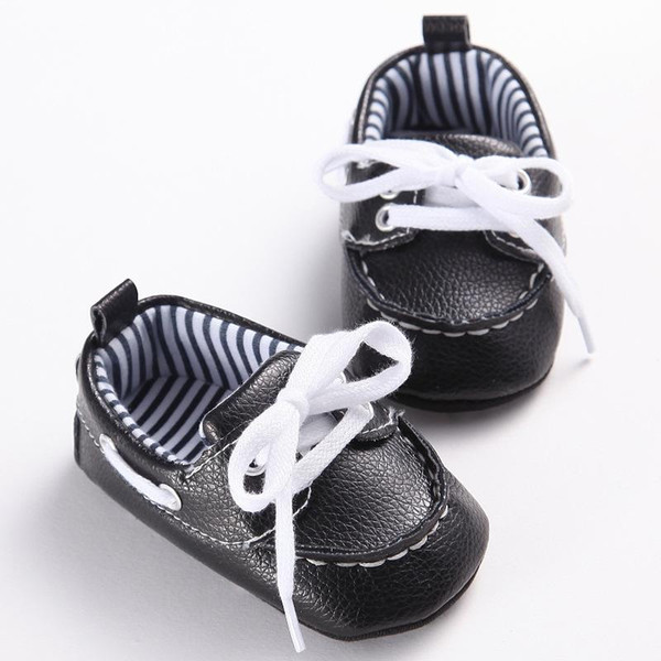 2018 Fashion Classic Leisure Blue Infant Toddler Baby Boy Kid Prewalker PU Leather Shoes Crib Babe Soft Soled Loafer 0-1 Years