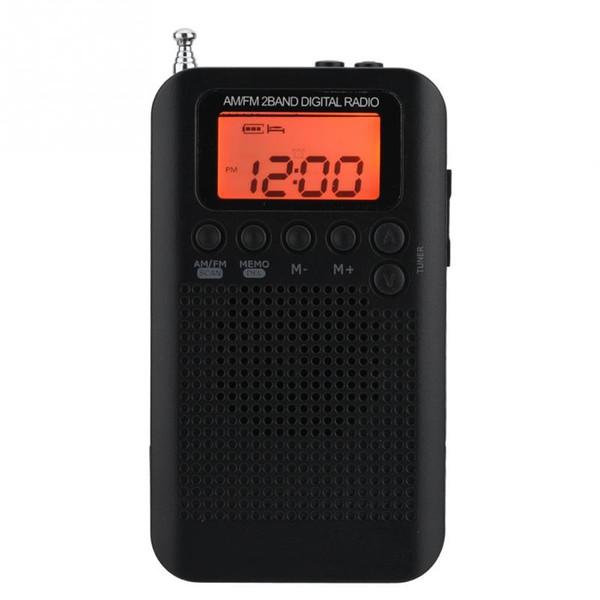 AM FM stereo Dijital Radyo 2 Band Stereo Tuning Radyo Cep ICD Ekran 58 istasyonları saklayabilirsiniz