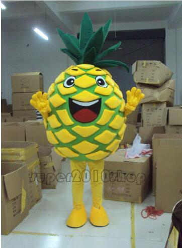 New Style Adult Cute BRAND Cartoon New fruit Pineapple Mascot Costume Fancy Dress Hot Sale Party costume Free Ship