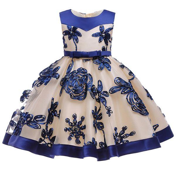 Compre Ropa Infantil Niña Cumpleaños Princesa Fiesta Vestido Niña Bebé Flor Bebé Niños Vestido Niña 3 4 5 6 7 8 9 10 Años Ropa Tutu A 2268 Del