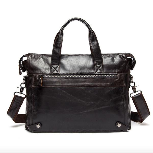 2018 Hot Sale Kvky 100% Genuine Leather Briefcases 15.6 Inch Laptop Handbag Men's Business Bags Cow Messenger/shoulder For Men