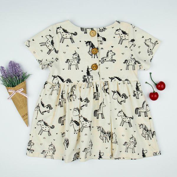 cb9b0819d869 SALE Summer dress girl baby skirt unicorn print dress boutique fashion clothes  cute kids clothing dresses Brief Printed unicorn clothes 2048