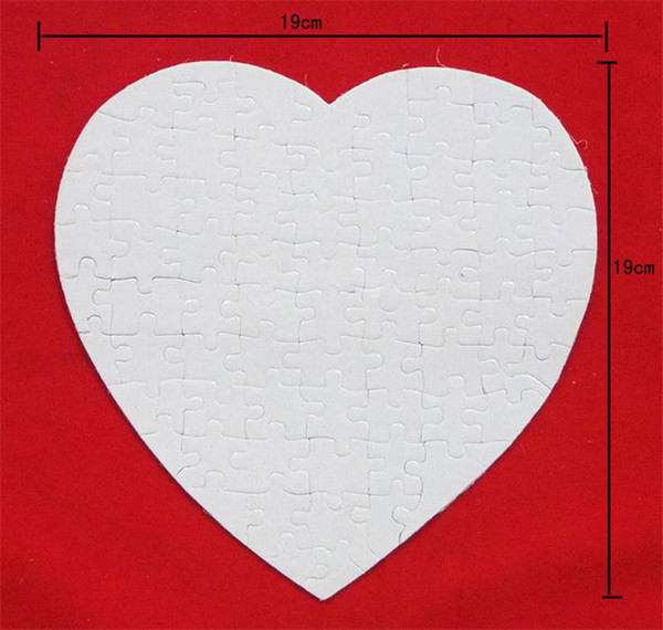 top popular blank puzzle for dye sublimation heart transfer printing sublimation puzzles Consumables custom diy heart love puzzles child toys gifts P26 2019