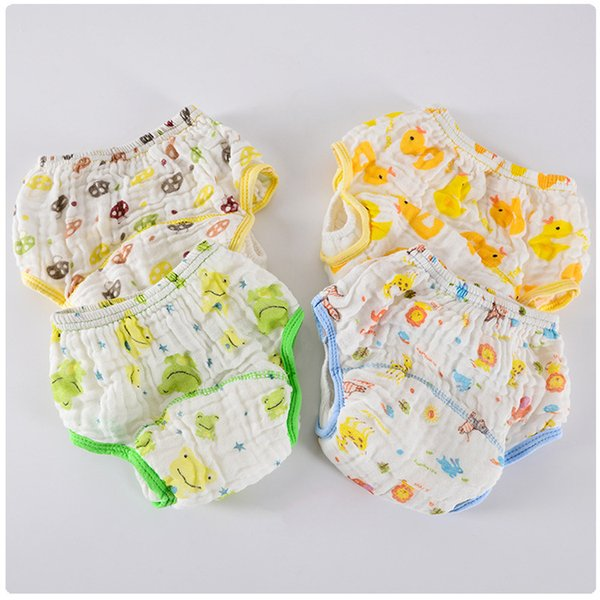 7 Layers Waterproof Gauze Cloth Diaper Pants 3pcs Lot Washable Newborn Baby Cloth Diaper Pockets Reusable Nappy Changing Cover