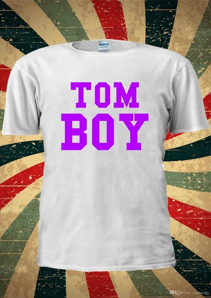 TomBoy TOM MENINO Lésbica Menina Roxo T-Shirt Vest Top Das Mulheres Dos Homens Unisex 2069