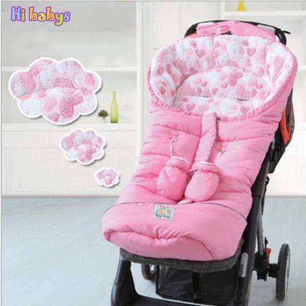 Winter Sleeping Bags Baby Envelope For Stroller Newborn Baby Stroller Sleeping Bags With Glove Infant Winter Envelonp kids