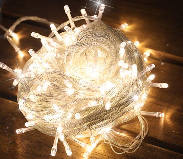 Noel dekorasyon ev / ağaç / ev / ofis vb için Led dizeleri vs.100mini led ışıkları kontrol ve AC güç konnektörü ile 10 metre