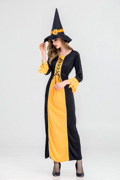 Kostenloser Versand, neues Hexenkostüm Hexenkostüm, Halloween-Kostüm für Erwachsene, Film und Animationsspiel Cos Uniform Spot