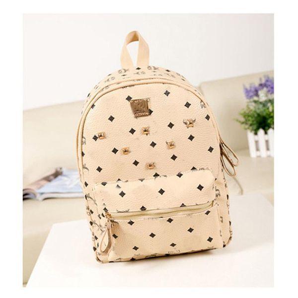 0e555a4cffc Brand Hot Summer Fashion Women School Bags Hot Punk Style Men Backpack  Designer Backpack PU Leather