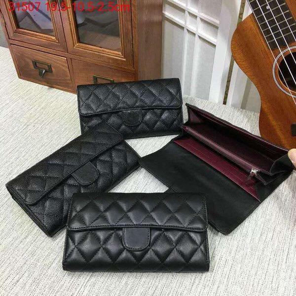 2018 Famous brand fashion print women's handbag high quality genuine leather land line purse long zipper canvas purse luxury bag