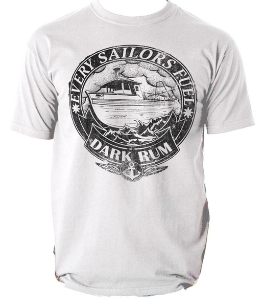 SAILORS t shirt EVERY SAILOR FUEL SHIP RUM mens t-shirt tee S-3XL Cool Slim Fit Letter Printed top tee Men Summer Style