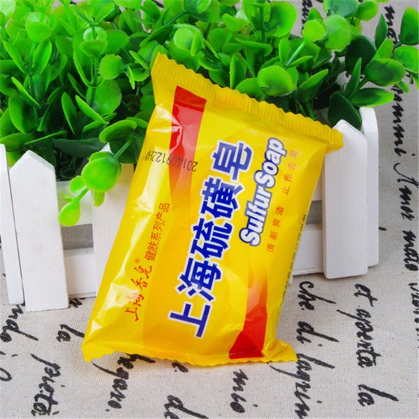 85g Shanghai Sulphur Soap 4 Hauterkrankungen Akne Psoriasis Seborrhoe Ekzem Anti-Pilz Parfüm Butter Sprudelbad Gesunde Seifen