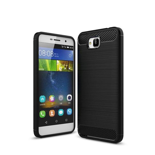 Custodia protettiva per Huawei Honor 4C Pro Custodia protettiva in fibra di carbonio anti-goccia Custodia rigida in TPU per Huawei 4C PRO 4CPRO Custodia posteriore