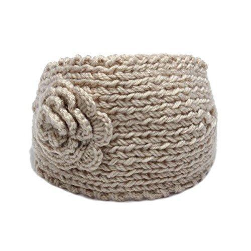 PROMOTION! Femmes Crochet Tricot Fleur Bandeau Oreille Réchauffeur Accessoires De Cheveux 130mm