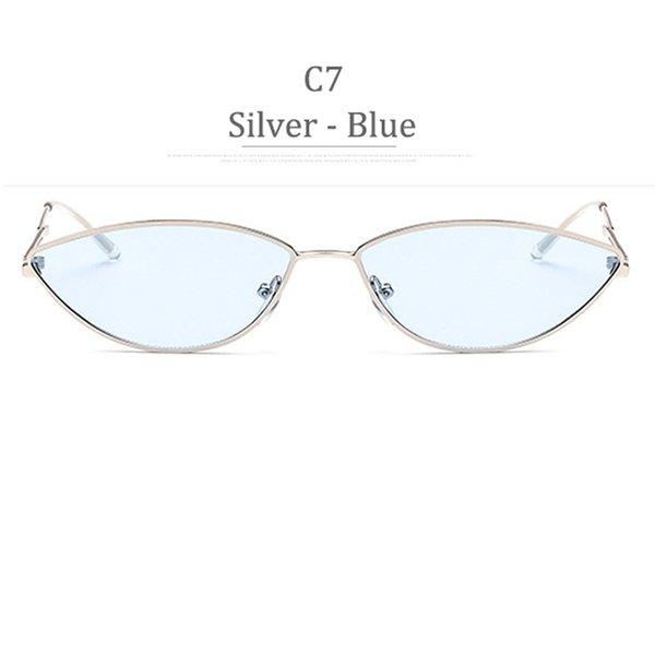 Obiettivo blu C7 Silver Frame