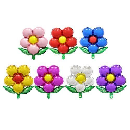 Frete grátis flores balões de alumínio balões de festa de aniversário por atacado brinquedos das crianças