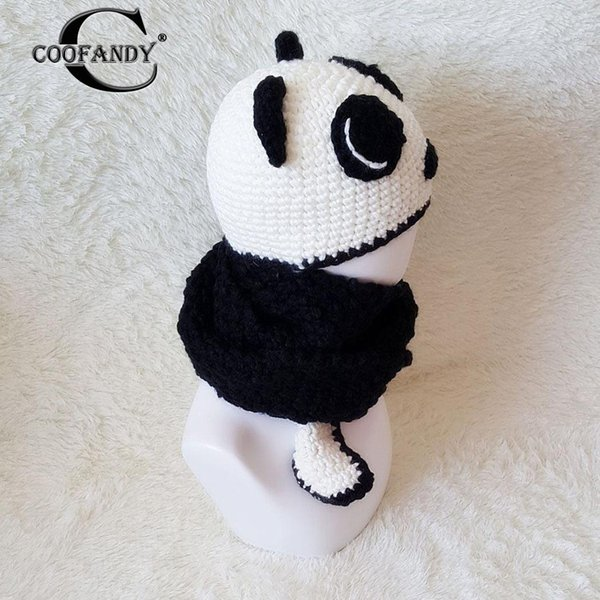 Compre Diseñe Panda Tide Patchwork Otoño Bufanda Niños Interesantes ...