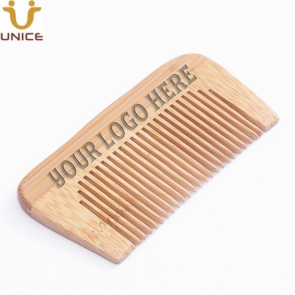 100 pcs/lot Your LOGO Customized Private Label Brand Bamboo Combs Laser Engraved LOGO ECO-friendly Hair Comb Beard Comb