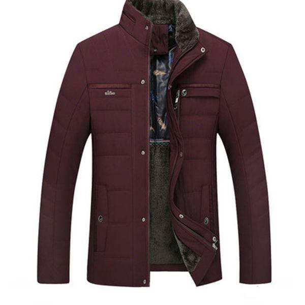Kış Ceket Erkekler Marka Erkek Standı Kürk Yaka Iş Rahat Polar Kalın Sıcak Parkas Erkekler Pamuk Yastıklı Ceket Artı Boyutu Sıcak Satış
