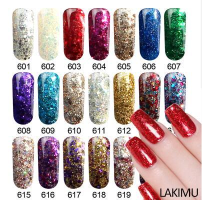 Professional UV Gel Varnish Diamond Glitter Gel Nail Polish Soak Off Manicure Nail Art Permanent Enamel Kit Gel Lacquer