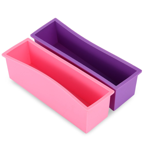Handmade Soap Silicone Rectangle Mould Pastry Bread Bakeware 1.2L with Wood Box Loaf Candle Soap Moulds for Handmade Soaps Free Shipping NB