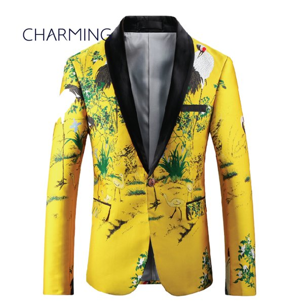 Designer mens suits High quality jacquard fabric Chinese style pattern Fit singer best mens suits mens fashion suits