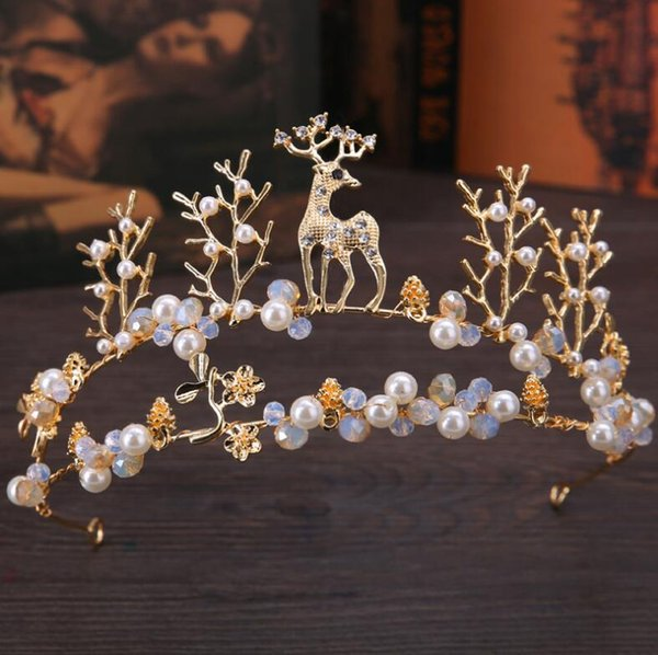 Free Shipping!In Stock! Low Price Dazzling Crown Party New Fashion Crystal Flower Accessories Princess Crystal Cheap High Quality