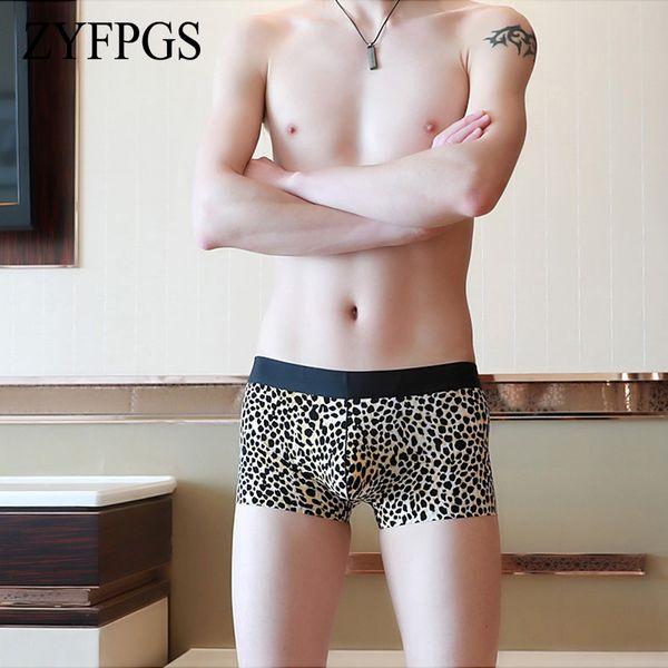ZYFPGS 5 pcs / lot Boxers Men Panties Men's Shorts Underwear Boxer Homme Pants Camo Splice Breathable Fast-Drying Bander L0624
