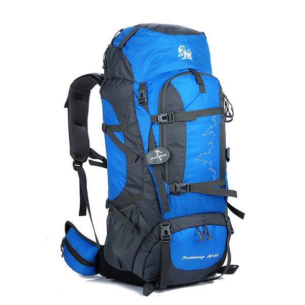 New brand designer 85L hiking backpacks outdoor big capacity breathable camping men shoulder bags 6 colors with bearing system