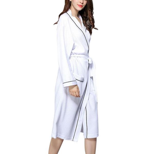 MISSKY Unisex Couples Women Robes Bath Gown Tuta da bagno in cotone morbido di grandi dimensioni per uso alberghiero