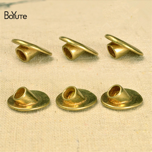 BoYuTe 10Pcs 14*16MM Raw brass Metal Brass Buckle Clasp Connector Diy Accessories Parts Jewelry Findings & Components