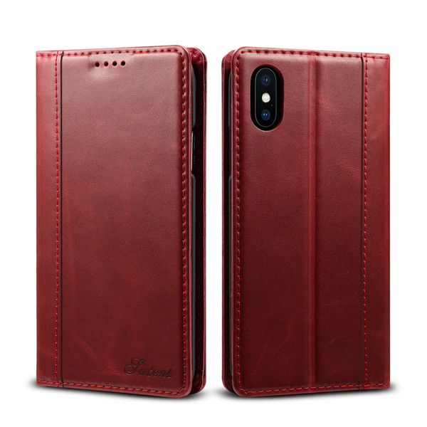 For iPhone X,7,7plus Genuine cowhide cell phones protect leather case,Card Slot,Realize wireless charging