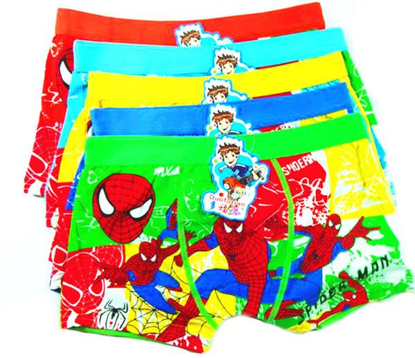 top popular Spiderman Big Boy Boxer Underwear Regenerated Cellulose Fiber Children's Underwear Fashion Cartoon Character For V 001 2019