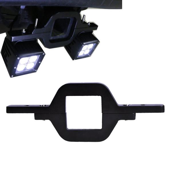 Crochet de montage d'attelage universel pour deux feux de recul à DEL de recul Recherche arrière Éclairage Lampes de travail tout-terrain
