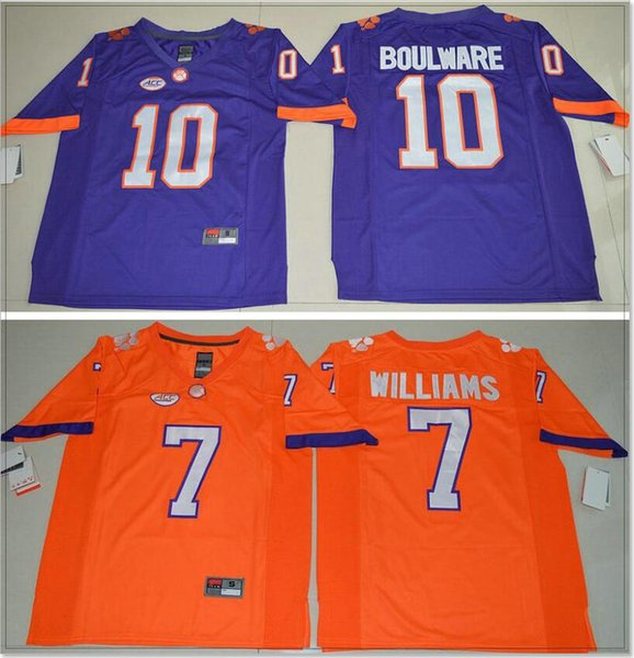 Clemson Tigers #7 Mike Williams 10 Ben Boulware Vintage Mens College American Football Sports Shirts Pro Team Jerseys Stitched Embroidery