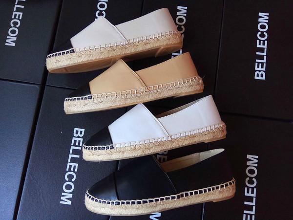 Espadrilles Leather Platform Loafers Luxury Women Soft Brand Designer Sheepskin Fashion Flats Woman High Quality Slip-on Casual Shoe,35-42
