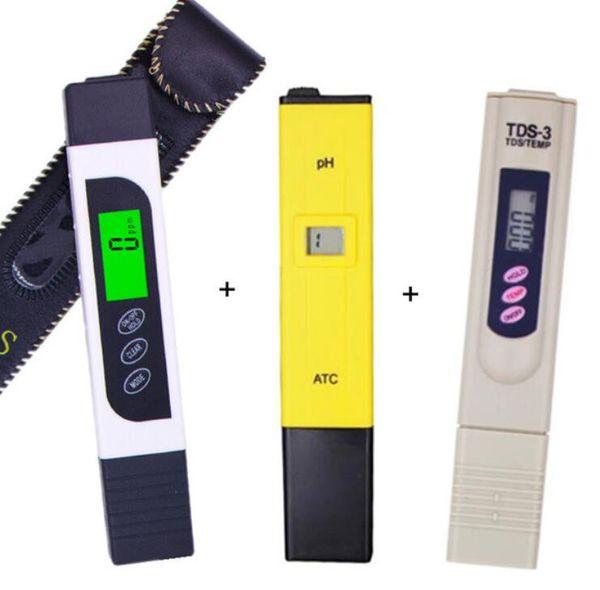 Arkadan aydınlatmalı yeni LCD ekran EC TDS metre + ph tester ATC + tds monitör ppm Sopa Su Saflık su kalitesi testi