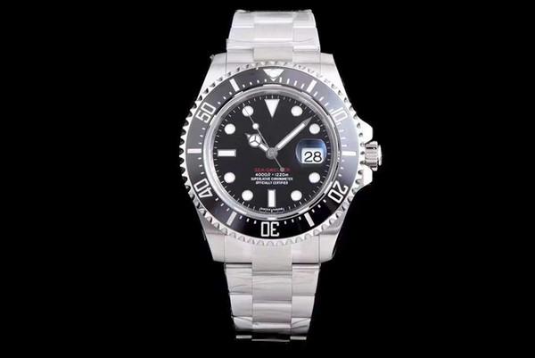 Relojes de lujo de primera calidad Nuevo RED SEA-DWELLER 43mm 126600 Reloj para hombre Movimiento automático de barrido Mecánico Cerámica Bisel Corchete original
