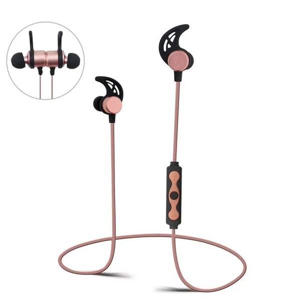 STN-861A Mini Wireless Bluetooth Headset Magnetic Earphone With Mic V4.2 Stereo Sound For iPhone Huawei Cell phones Handsfree With Package