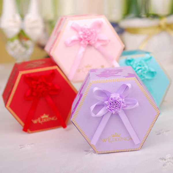 Diy Paper Candy Boxes With Decorative Flower Chocolate Packaging Party Wedding Decoration Favors Customized Gift Wrapping Paper Customized Wrapping